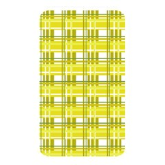 Yellow Plaid Pattern Memory Card Reader by Valentinaart