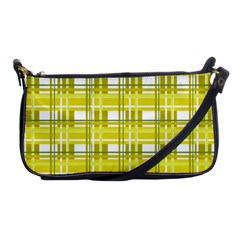 Yellow Plaid Pattern Shoulder Clutch Bags by Valentinaart