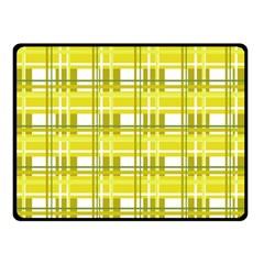 Yellow Plaid Pattern Fleece Blanket (small) by Valentinaart