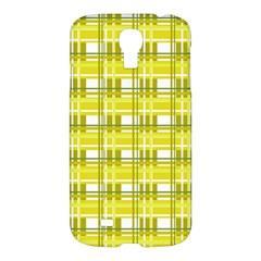 Yellow Plaid Pattern Samsung Galaxy S4 I9500/i9505 Hardshell Case by Valentinaart