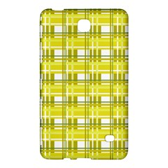 Yellow Plaid Pattern Samsung Galaxy Tab 4 (7 ) Hardshell Case  by Valentinaart