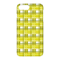 Yellow Plaid Pattern Apple Iphone 7 Plus Hardshell Case