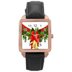 Christmas Clip Art Banners Clipart Best Rose Gold Leather Watch  by Onesevenart