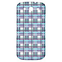 Decorative Plaid Pattern Samsung Galaxy S3 S Iii Classic Hardshell Back Case by Valentinaart