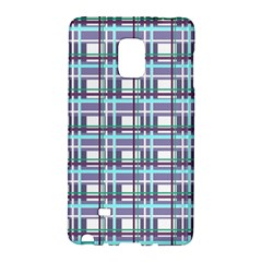 Decorative Plaid Pattern Galaxy Note Edge by Valentinaart