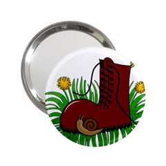 Boot In The Grass 2 25  Handbag Mirrors by Valentinaart