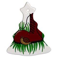 Boot in the grass Christmas Tree Ornament (2 Sides) by Valentinaart
