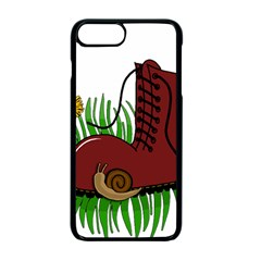 Boot In The Grass Apple Iphone 7 Plus Seamless Case (black) by Valentinaart