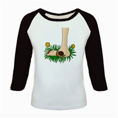 Barefoot In The Grass Kids Baseball Jerseys by Valentinaart