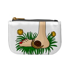 Barefoot In The Grass Mini Coin Purses by Valentinaart