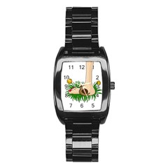 Barefoot In The Grass Stainless Steel Barrel Watch by Valentinaart