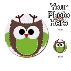 Clip Art Animals Owl Multi-purpose Cards (Round)  by Onesevenart