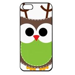 Clip Art Animals Owl Apple Iphone 5 Seamless Case (black) by Onesevenart