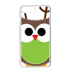 Clip Art Animals Owl Apple Iphone 7 Plus White Seamless Case by Onesevenart
