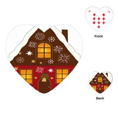 Christmas House Clipart Playing Cards (Heart)  by Onesevenart