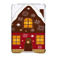 Christmas House Clipart Apple Ipad Mini Hardshell Case (compatible With Smart Cover) by Onesevenart