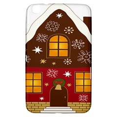 Christmas House Clipart Samsung Galaxy Tab 3 (8 ) T3100 Hardshell Case  by Onesevenart