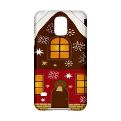 Christmas House Clipart Samsung Galaxy S5 Hardshell Case  by Onesevenart