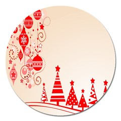 Christmas Clipart Wallpaper Magnet 5  (round) by Onesevenart
