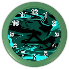 Hauntedlagoon Color Wall Clocks by designsbyamerianna