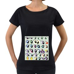 Eyes  Pattern Women s Loose-Fit T-Shirt (Black) by Onesevenart