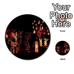 Holiday Lights Christmas Yard Decorations Multi Purpose Cards (round)  by Onesevenart