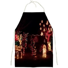 Holiday Lights Christmas Yard Decorations Full Print Aprons by Onesevenart