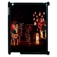 Holiday Lights Christmas Yard Decorations Apple Ipad 2 Case (black) by Onesevenart