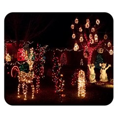 Holiday Lights Christmas Yard Decorations Double Sided Flano Blanket (small)  by Onesevenart