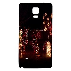 Holiday Lights Christmas Yard Decorations Galaxy Note 4 Back Case by Onesevenart