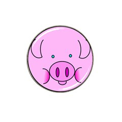 Pink Pig Christmas Xmas Stuffed Animal Hat Clip Ball Marker (4 Pack) by Onesevenart