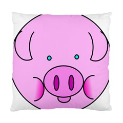 Pink Pig Christmas Xmas Stuffed Animal Standard Cushion Case (two Sides) by Onesevenart