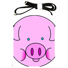Pink Pig Christmas Xmas Stuffed Animal Shoulder Sling Bags by Onesevenart