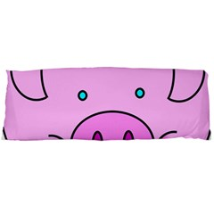 Pink Pig Christmas Xmas Stuffed Animal Body Pillow Case (dakimakura) by Onesevenart