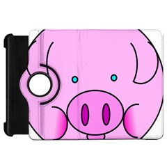 Pink Pig Christmas Xmas Stuffed Animal Kindle Fire Hd 7  by Onesevenart