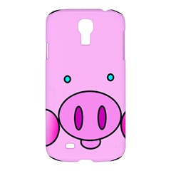 Pink Pig Christmas Xmas Stuffed Animal Samsung Galaxy S4 I9500/i9505 Hardshell Case by Onesevenart