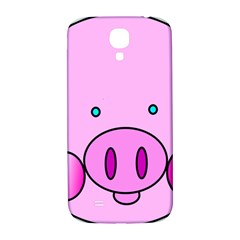 Pink Pig Christmas Xmas Stuffed Animal Samsung Galaxy S4 I9500/i9505  Hardshell Back Case by Onesevenart