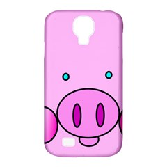 Pink Pig Christmas Xmas Stuffed Animal Samsung Galaxy S4 Classic Hardshell Case (pc+silicone) by Onesevenart