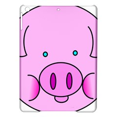 Pink Pig Christmas Xmas Stuffed Animal Ipad Air Hardshell Cases by Onesevenart