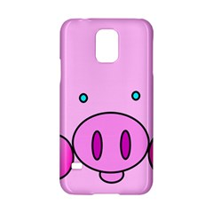 Pink Pig Christmas Xmas Stuffed Animal Samsung Galaxy S5 Hardshell Case  by Onesevenart