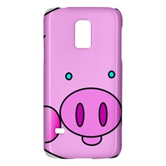 Pink Pig Christmas Xmas Stuffed Animal Galaxy S5 Mini by Onesevenart