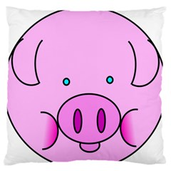 Pink Pig Christmas Xmas Stuffed Animal Large Flano Cushion Case (one Side) by Onesevenart