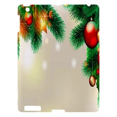 Ornament Christmast Pattern Apple Ipad 3/4 Hardshell Case by Onesevenart