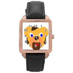 Solidarity Clipart Bear Head Teddy Bear Xmas Christmas Stuffed Animal Rose Gold Leather Watch  by Onesevenart