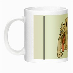 Watch Out Mad Dog On Property Night Luminous Mugs by Onesevenart