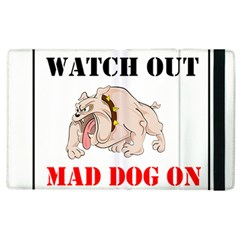 Watch Out Mad Dog On Property Apple Ipad 3/4 Flip Case by Onesevenart