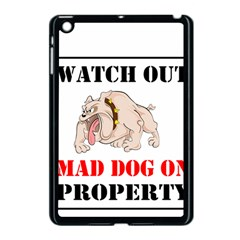 Watch Out Mad Dog On Property Apple Ipad Mini Case (black) by Onesevenart