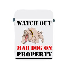 Watch Out Mad Dog On Property Apple Ipad 2/3/4 Protective Soft Cases by Onesevenart