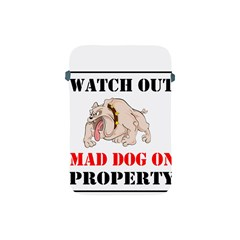 Watch Out Mad Dog On Property Apple Ipad Mini Protective Soft Cases by Onesevenart