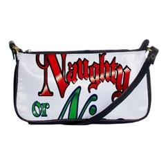 Vintage Christmas Naughty Or Nice Shoulder Clutch Bags by Onesevenart